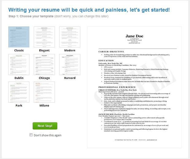Resume format no cost resume builder for No cost resume templates