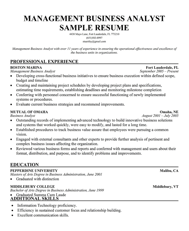 resume business analyst sle 28 images cover letter