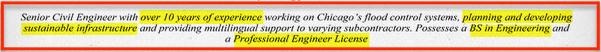 Engineering Resume Format Help