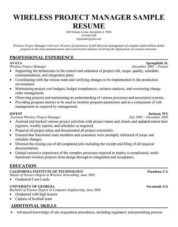 download free software release program manager resume
