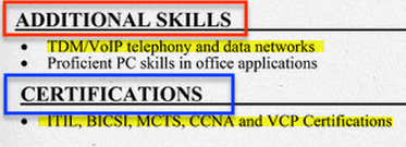 information technology additional skills