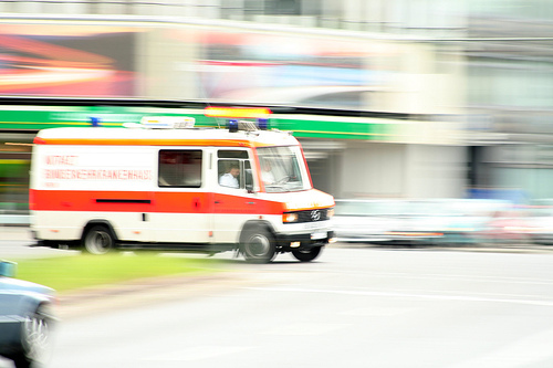 ambulance rushing down the street to save your healthcare resume