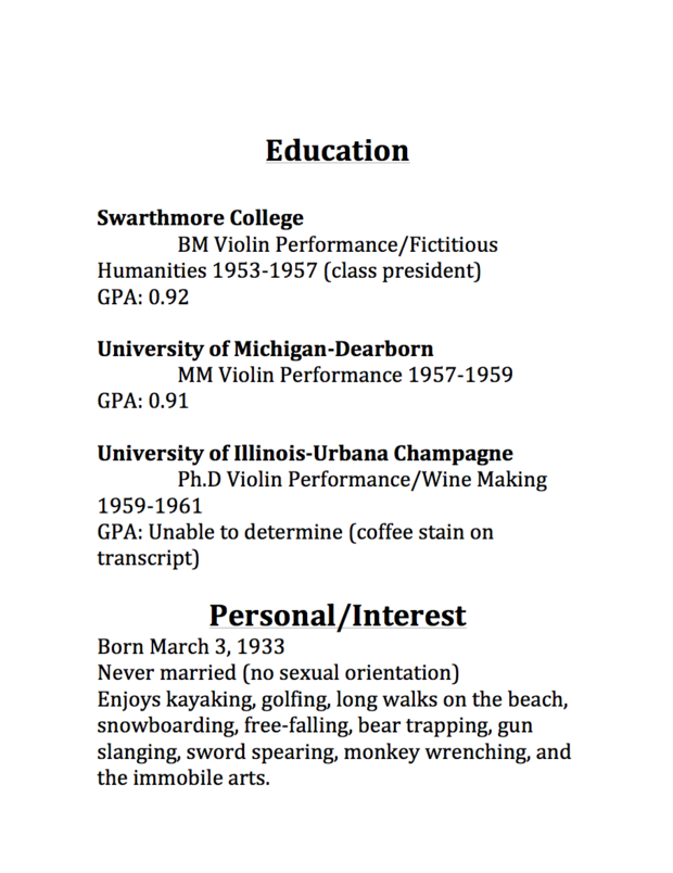 Resume for Student Scholarship Application