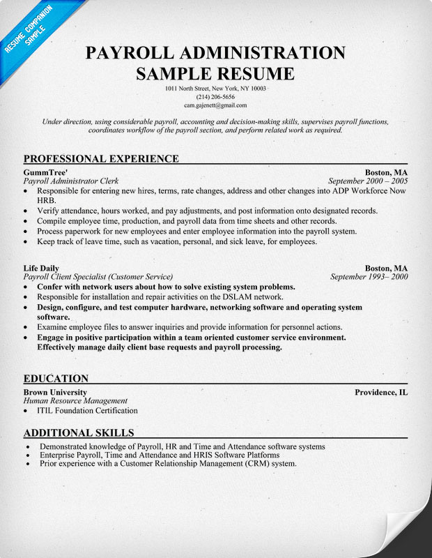 Cover Letter For Payroll Clerk With No Experience Images