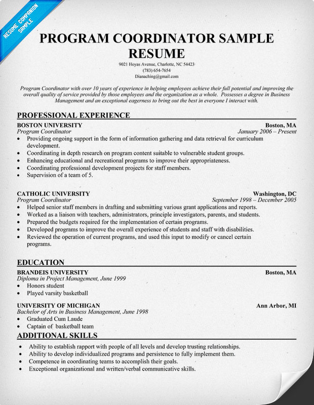 sample benefits administrator resume