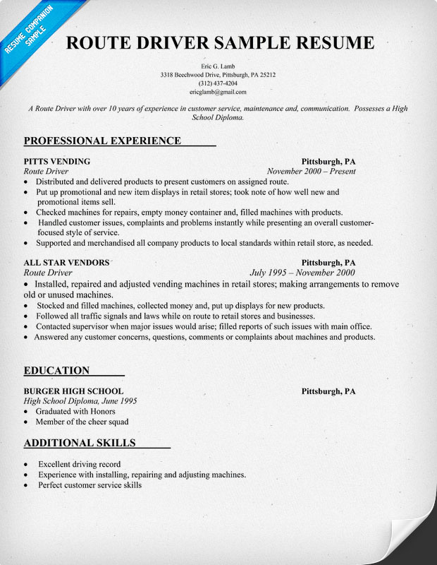 how to write a resume for delivery driver  full version