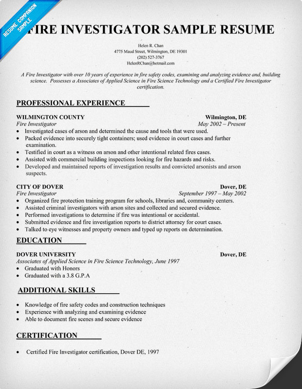 Criminal Investigator Resume Sample Useful Investments