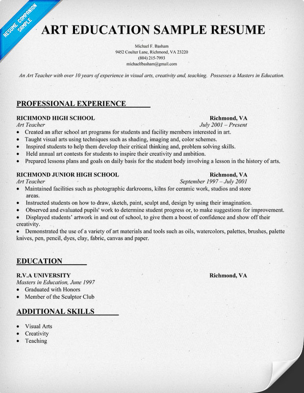 Education Resume Template  Teacher Resume Templates Free Sample