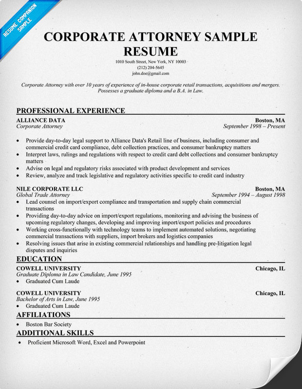 resume templates attorney resume sample secretary resume