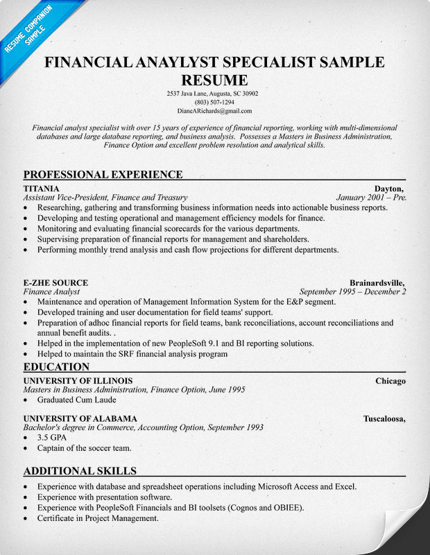 Sample Financial Analysis Financial Analysis Memo Sample Financial