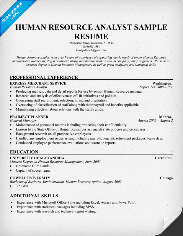 pin hr analyst resume example experienced hr analyst pin hr analyst resume example experienced hr