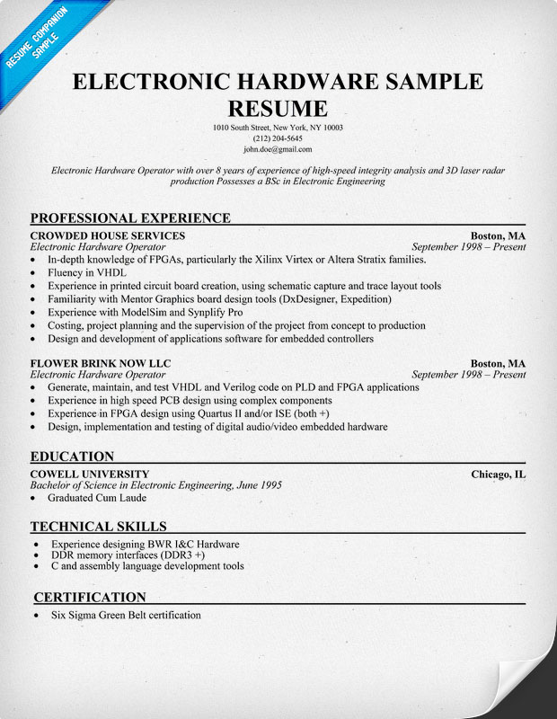electronic resume sample electronic resume sample http