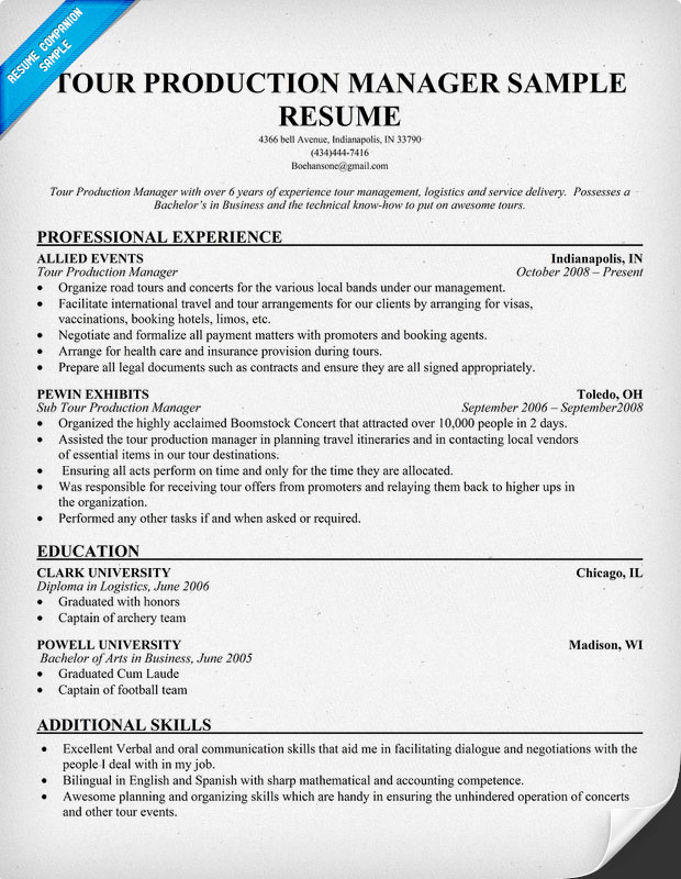 exle resume sle resume production supervisor