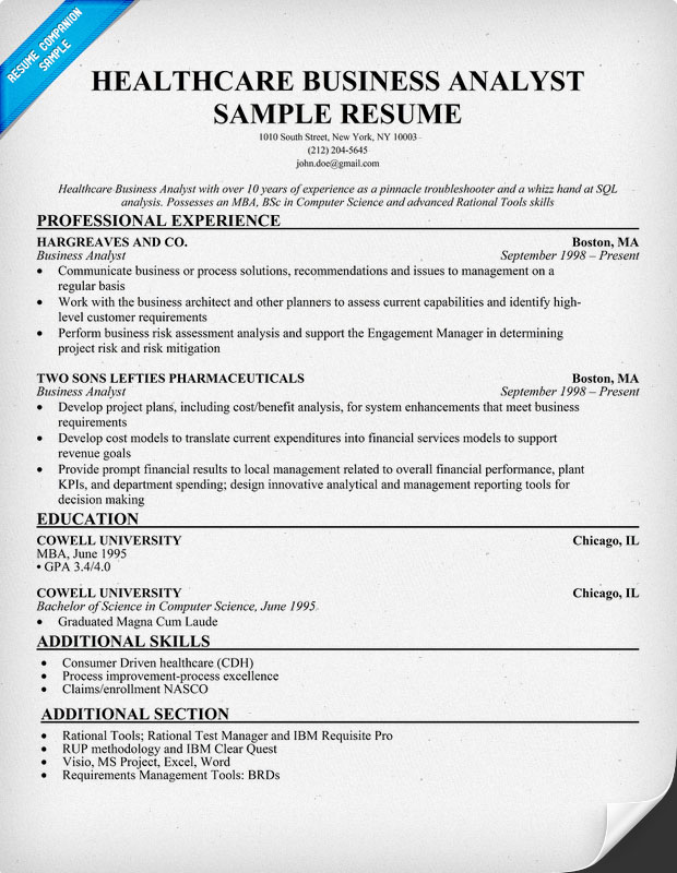 sample resume objective example examples in pdf best business template - Sample Resume Business Analyst