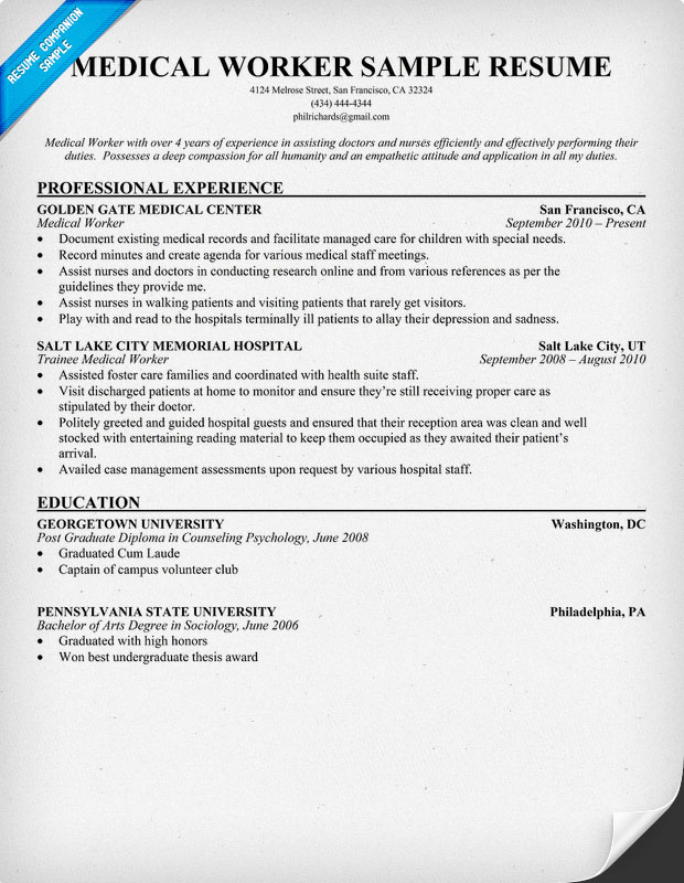 resume format for hospital job hospital resume examples hospital - Resume For Hospital Job