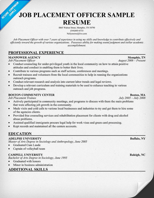 Resume Examples For Any Job] Resume Examples First Job Objective