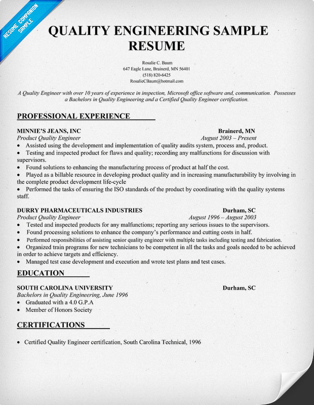 Qa Resume Samples 30.04.2017