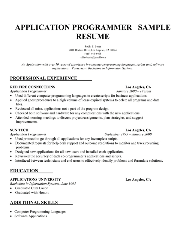 software programmer resume sles java developer resume