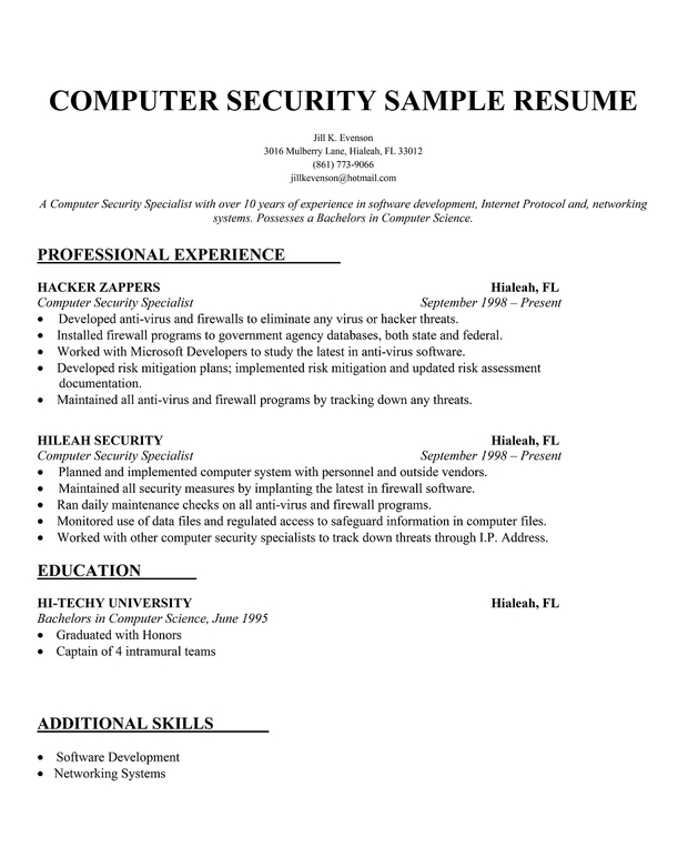 11 security consultant resume