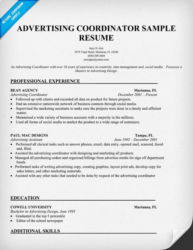 Skillset in resume