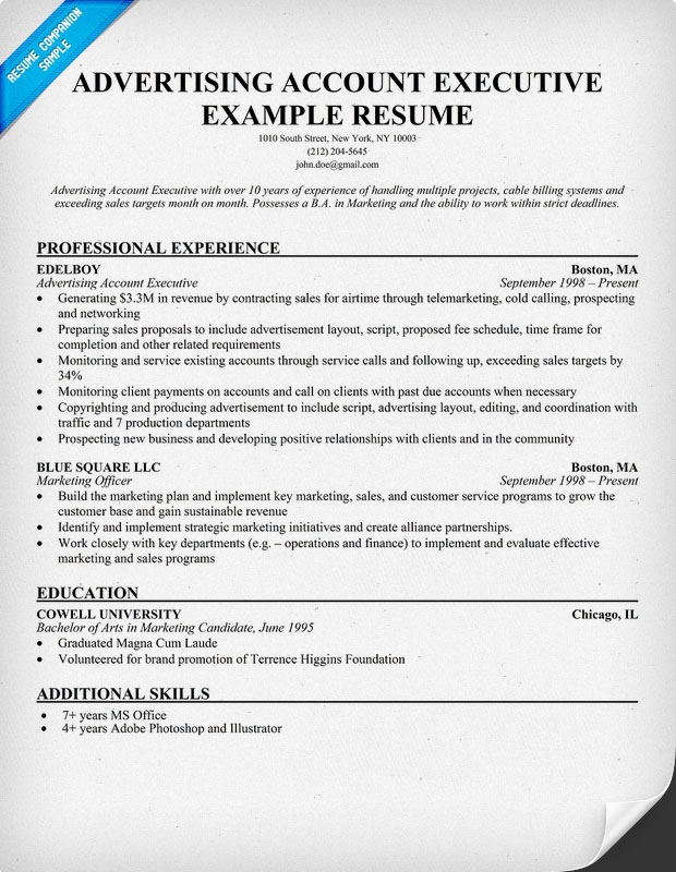 job objectives for resume rockcup tk design synthesis accounts executive resume sample resume sales executive aaaaeroincus - Account Executive Resume Sample