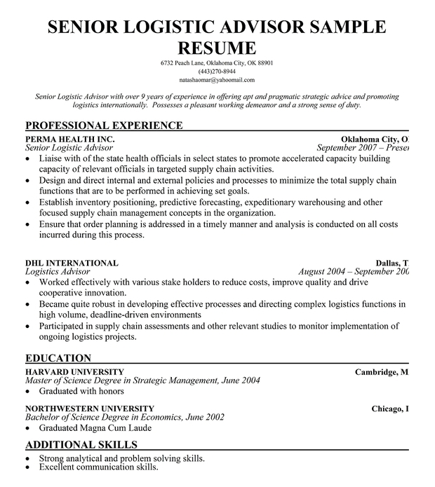 Transportation dispatcher resume examples