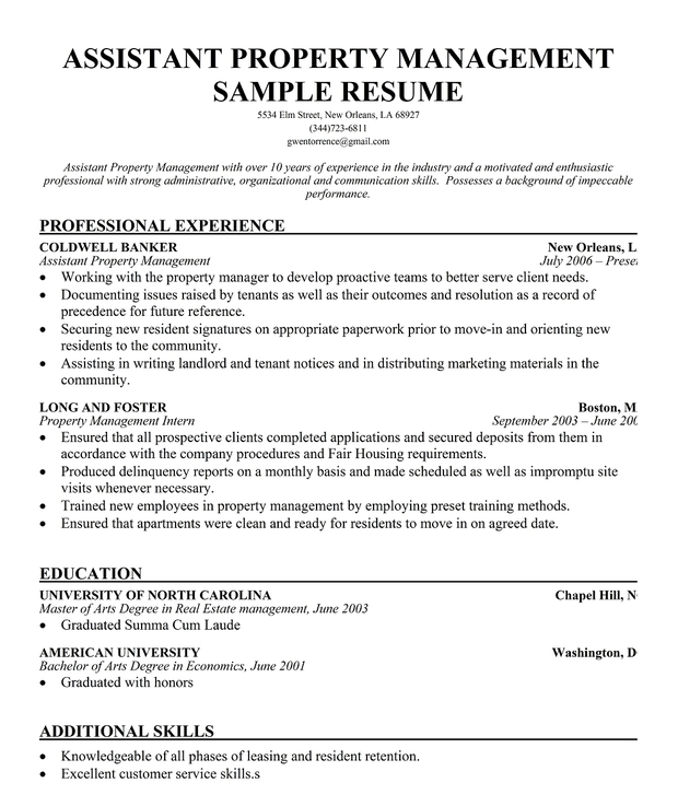 property management resume out of darkness