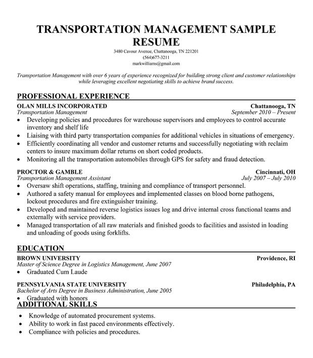 pin fleet manager resume samples on pinterest