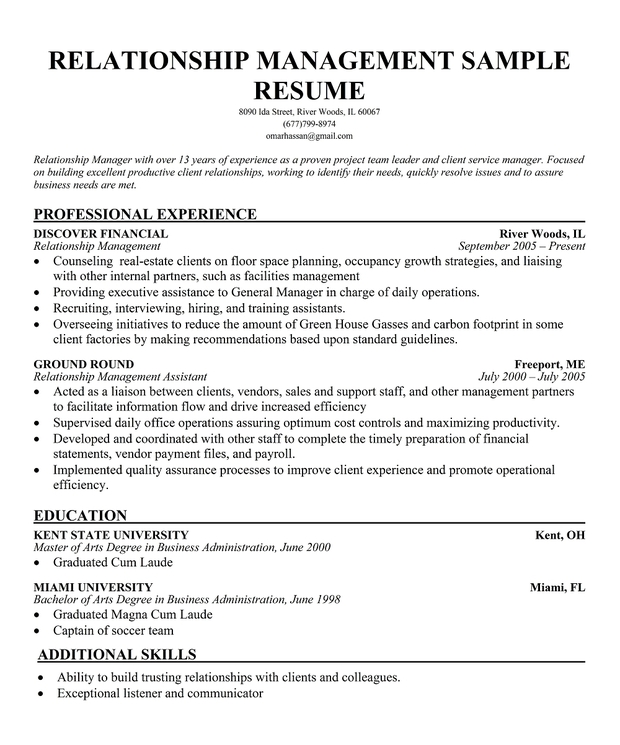 Relationship manager banking resume. client development manager resume  sample ...